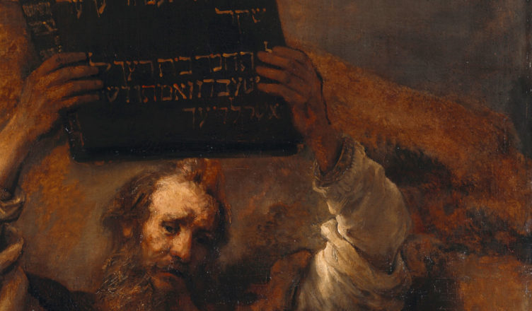 Rembrandt Moses with 10 C Cropped